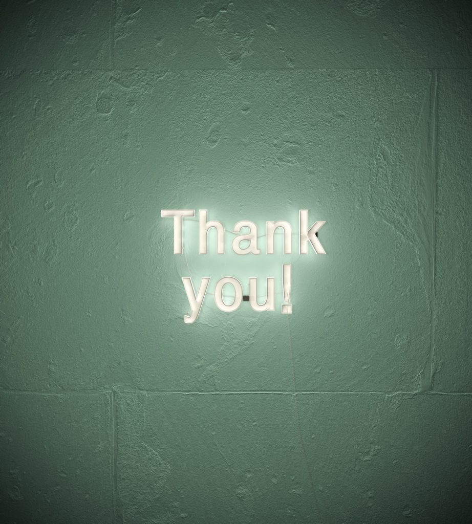 thank you blog post